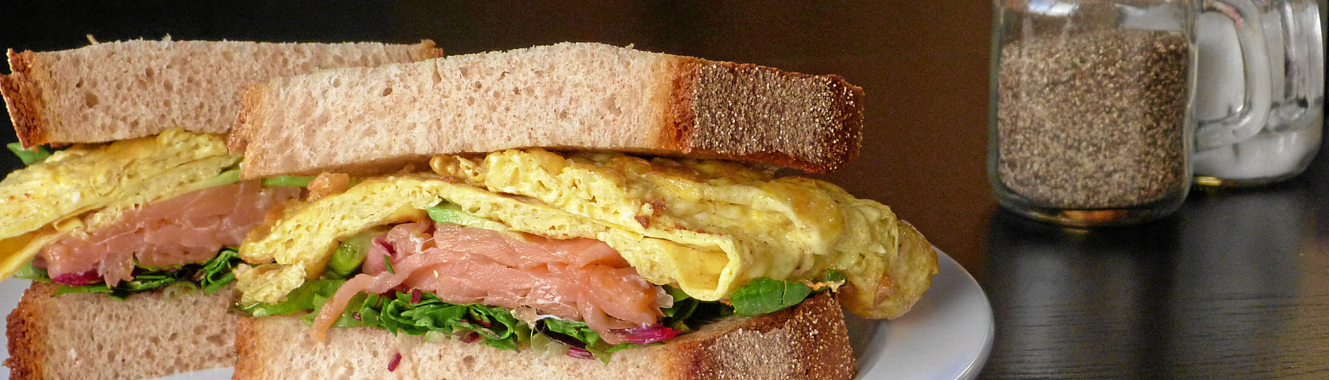 Gravlax Egg Sandwich